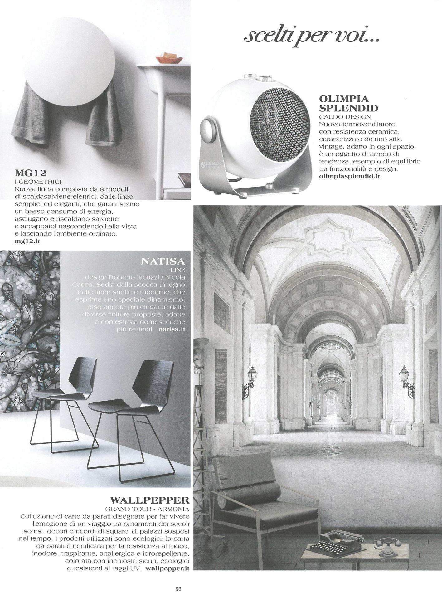 I nostri tavoli e sedie di design nelle riviste di for Riviste di arredamento on line