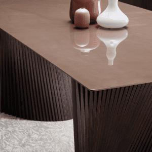 tavolo di design living natisa bow dettagli
