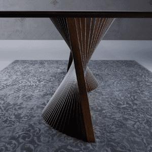 tavolo living moderno di design orbit natisa dettaglio