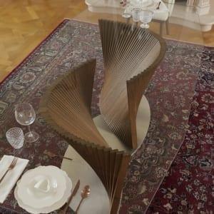 tavolo moderno di design Petal & Iris dettaglio