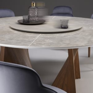 tavolo moderno di design Shell dettagli