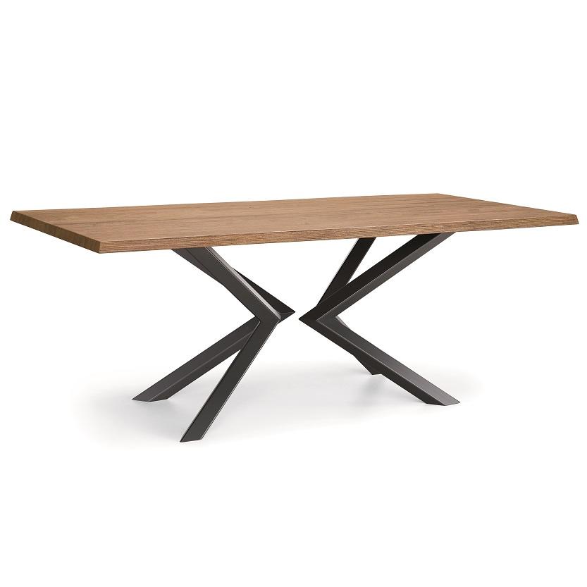 tavolo metallo di design shift natisa piano color legno